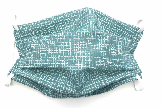 Cotton Face Mask - Teal - Flax & Stitch
