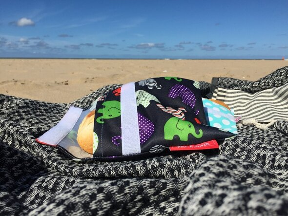 Sac à Sandwich Réutilisable - Flax & Stitch - Plage